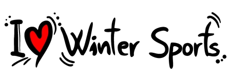 Winter Sports love Vector