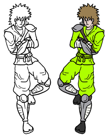 avenger: Samurai color draw Illustration