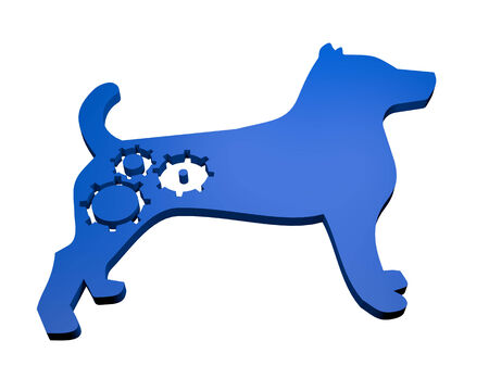 Blue dog photo