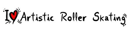 roller skating: Artistic Roller Skating love