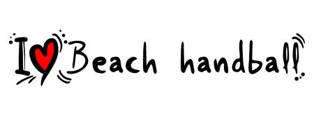 heading the ball: Beach handball love Illustration