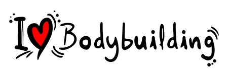 strengthening: Bodybuilding love Illustration