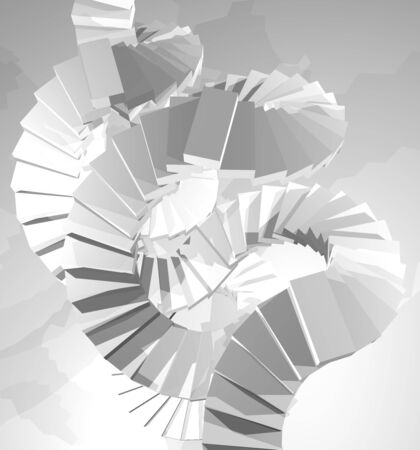 tiers: White stair