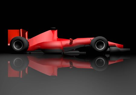 numero: Red render racing car Stock Photo