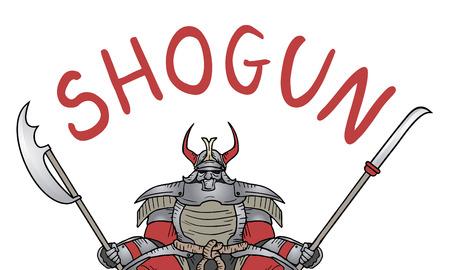 Shogun vector draw Vector