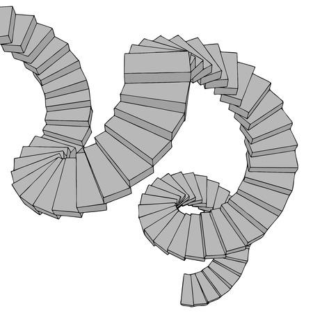 descend: Imaginative stairs Illustration
