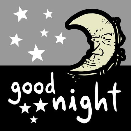 nochebuena: Buenas noches Vectores