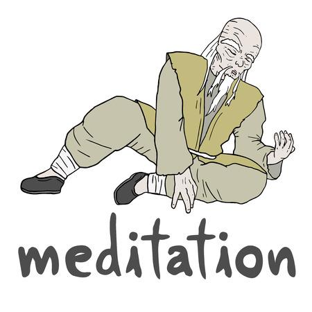Meditation japanese Vector