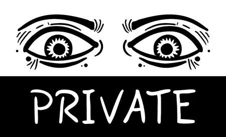 Private eyes Illustration