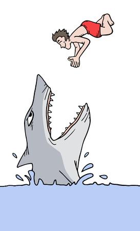 Boy and shark