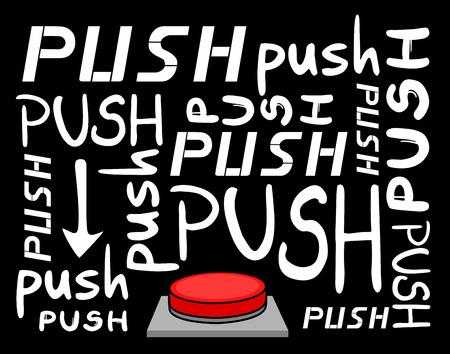 push button: Push button message