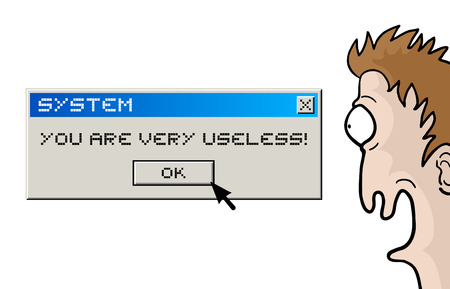 computer message: Useless character and computer message