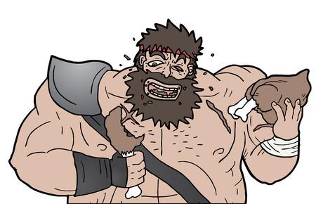 barbarian: Barbarian eating