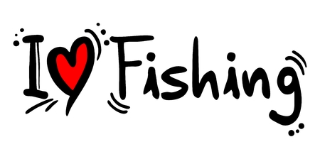 title hands: Fishing love Illustration