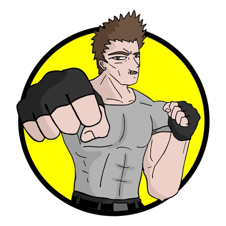 exterminate: Luchador muscular Vectores
