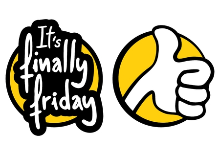 Its finally friday message Vector