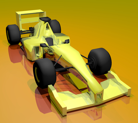 formule: Yellow car