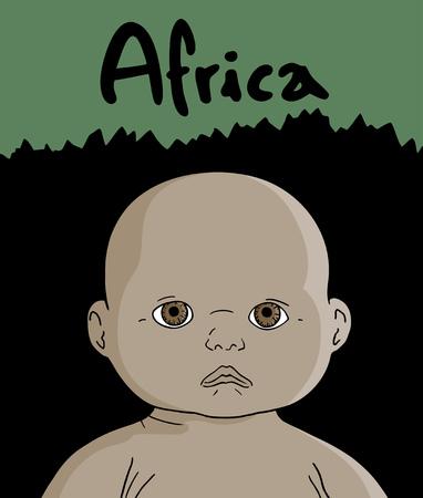 africa child: Africa child Illustration