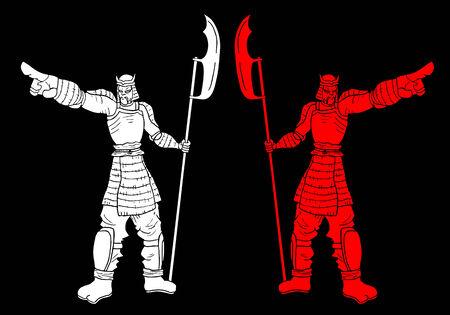 Two samurai vector