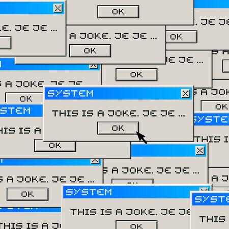 computer message: Joke computer message