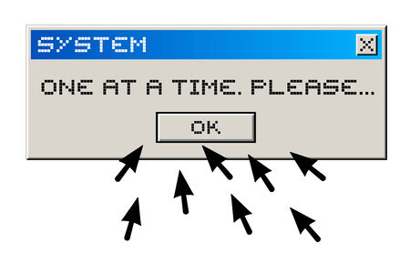 computer message: Funny computer message Illustration