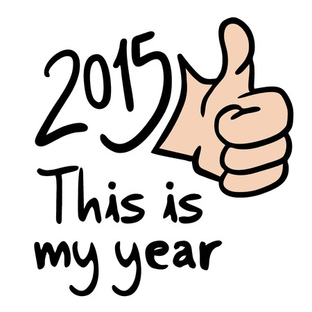 all right: This is my year message Illustration