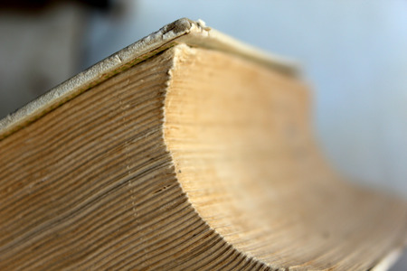 stack of documents: Old big book