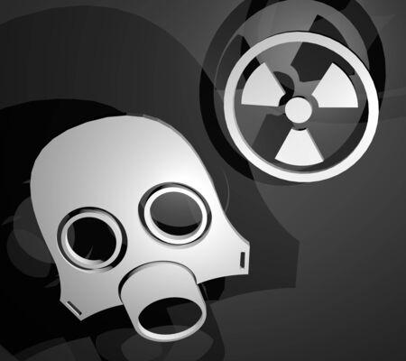 radiacion: S�mbolo de radiaci�n Foto de archivo