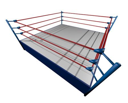 boxing ring: Render ring Stock Photo