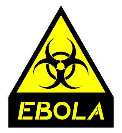 biological warfare: Ebola advise symbol