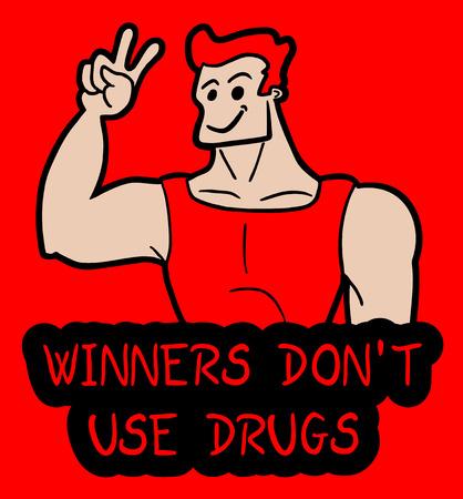 drug dealer: Winners don Illustration