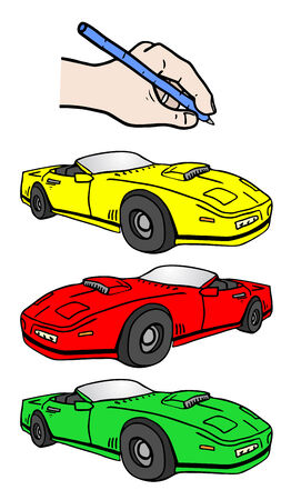 Drawing speed car Vector