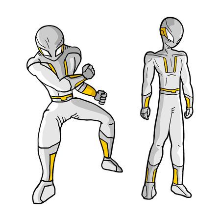 Future hero vector Vector