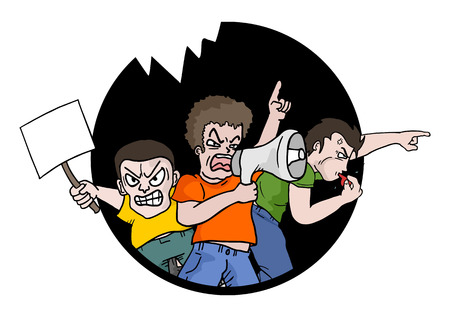 Protest symbol Illustration