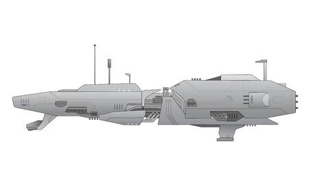 interceptor: Spaceship vector Illustration