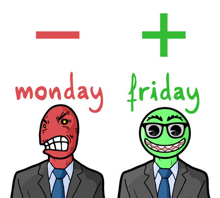 reactions: Monday and Friday reactions