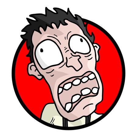 poisoned: Vector crazy expression Illustration