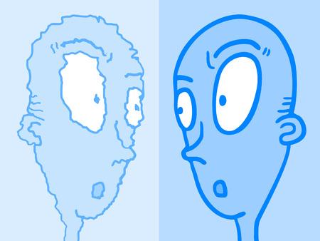 imaginative: Imaginative blue face refection