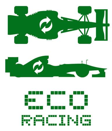 nonpolluting: Eco racing symbol Illustration