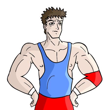 greco: Wrestling fighter Illustration