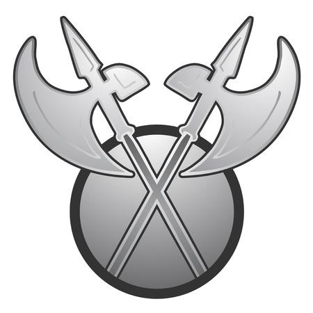 Alabarde Symbol Standard-Bild - 34983861
