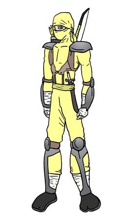 assassin: Ninja vector Illustration