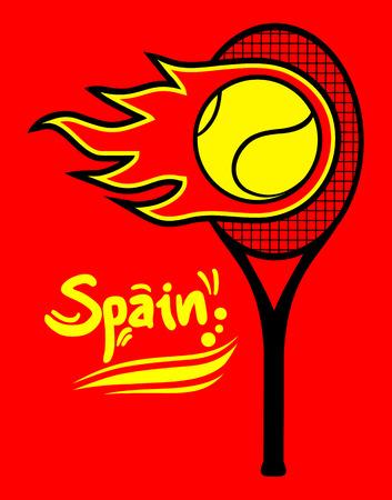 racquetball: Raqueta de tenis de vector