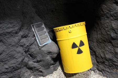 nuclear waste disposal: Atomic barrel