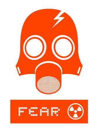 gas mask warning sign: Mask gas symbol