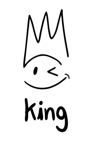 King face symbol Vector