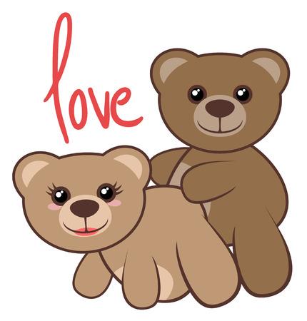 animal sex: Bears love Illustration