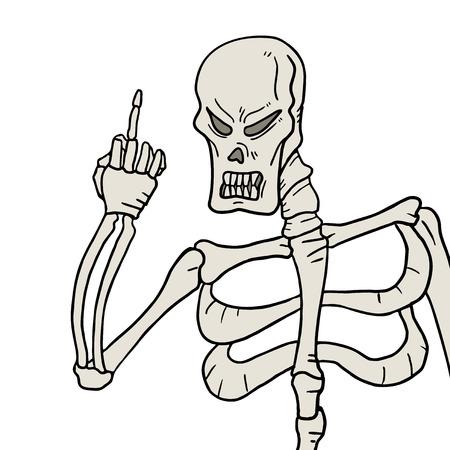 insult: Skull threat