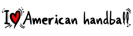 craving: American handball love Illustration