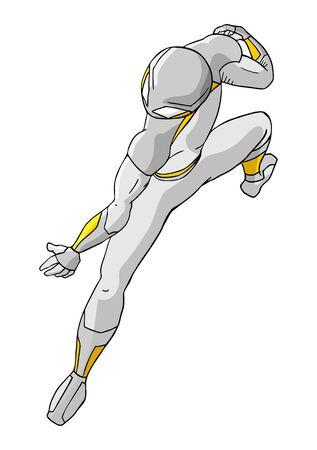 Future hero Vector